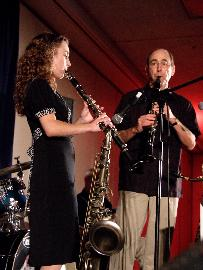 Chloe Feoranzo and Larry Okmin jamming ath the San Diego Jazz Festival, 2008