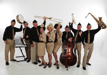 Sweethearts of Swing, an Andrews Sisters vocal trio,  & the  High Society Jazz Band
